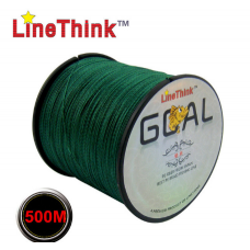 Плетеный шнур Line Think зеленый, 0.14 мм, 500 метров