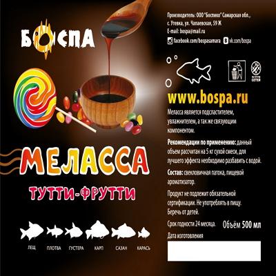 Меласса БОСПА Тутти - Фрутти, 500 грамм