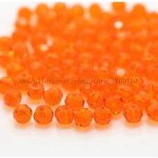 Бисер Оранжевый, 4 мм, 10 шт