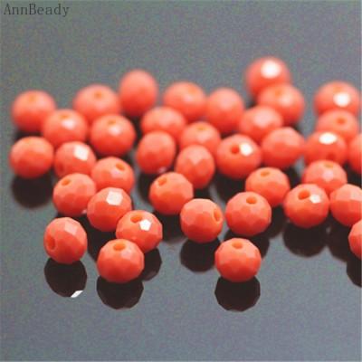 Бисер Красный, многогранный 4 мм , 10 шт