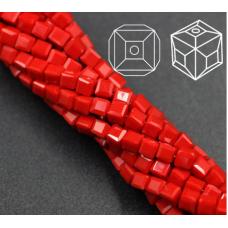 Бисер Красный кубик, 3 мм, 10 шт