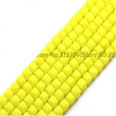 Бисер Желтый кубик ( Сырный кубик ) 3 мм, 10 шт
