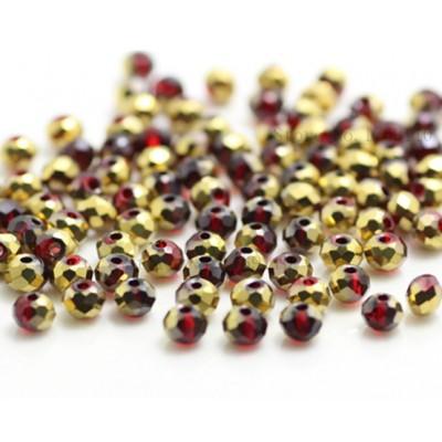 Бисер Красное Золото, многогранный,  4мм, 10 шт