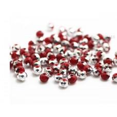Бисер Красное Серебро, многогранный,  4мм, 10 шт