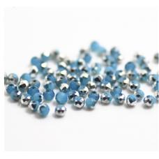 Бисер Голубое серебро, многогранный 3x4 мм, 10 шт