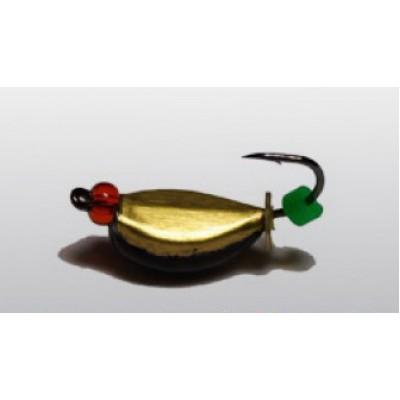 Мормышка Нимфа широкая, 4 мм
