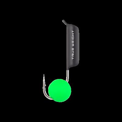 Гвоздешарик с шариком Неон зеленый, 2.5 мм