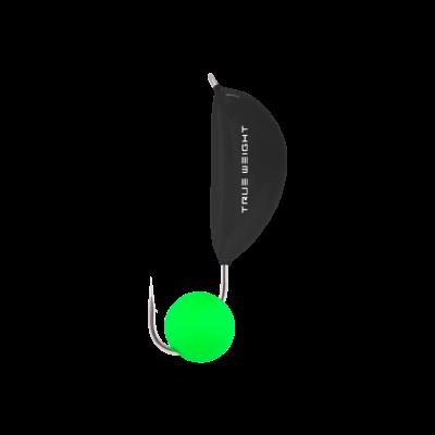 Мормышка Банан с шариком Неон зеленый, 2 мм