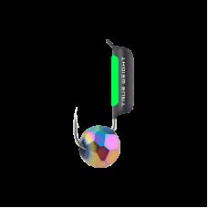 Гвоздешарик Многогранный Хамелеон, 2 мм / полоска фосфора