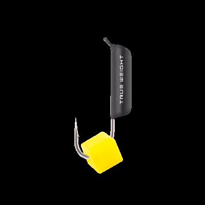 Мормышка с желтым кубиком ( Сырный кубик ) 3 мм