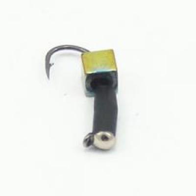 Мормышка Гвоздекубик с кубиком Хамелеон, зеркальце серебро, 3 мм