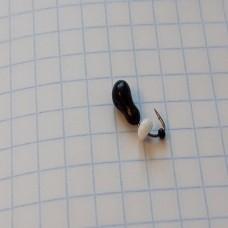 Мормышка Муравей, 0.5 грамм, белый эксцентрик